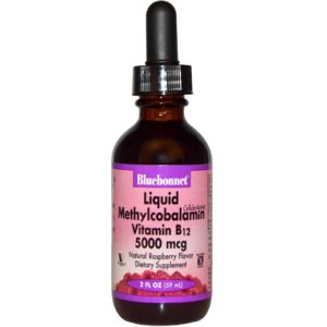 Bluebonnet Liquid Methylcobalamin Vitamin B12 5000 mcg 59ml Supplement 1