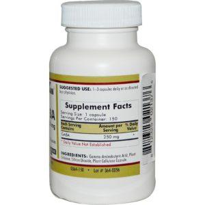 Kirkman GABA 250 mg 150 Capsules Supplement 2