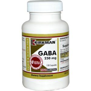 Kirkman GABA 250 mg 150 Capsules Supplement
