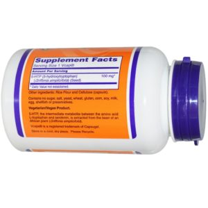 Now Foods 5-HTP 100 mg 120 Vcaps Supplement in India from VitSupp 2