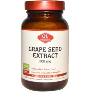 Olympian Grape Seeds Extract 200 mg 100 Veggie Caps in india from VitSupp