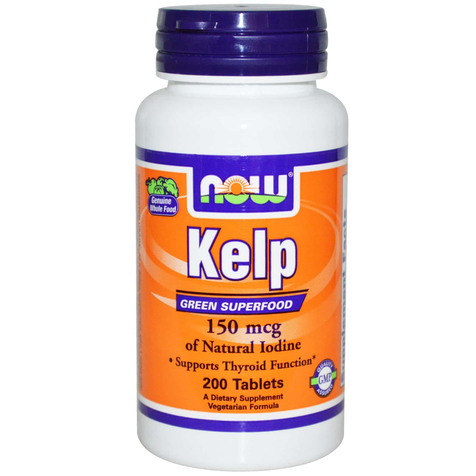 Now Foods Organic Kelp 150 mg 200 Tablets Natural Iodine Supplement