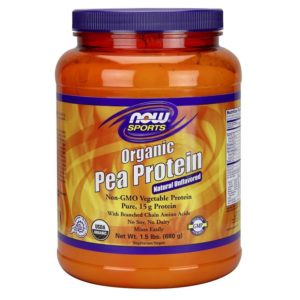 Buy Organic Pea Protein Powder Natural Unflavoured 680g by Now Foods