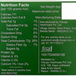 Farmer's Fresh HMT Rice – Nutrition Chart