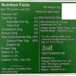 Farmer's Fresh Urad Dal – Nutrition Chart