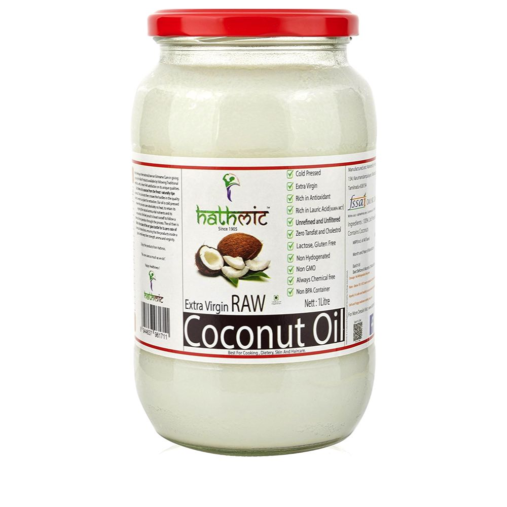 Hathmic Extra Virgin Cold Pressed Coconut Oil-1 litre-1