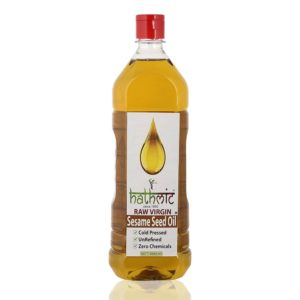 Hathmic Raw Virgin Cold Pressed Sesame Seed Oil, 1000 ml (Wood Pressed)-1