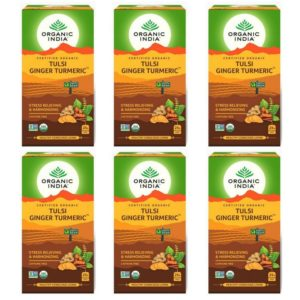 Organic India Tulsi Ginger Turmeric 25 Tea Bags