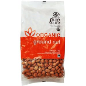 Pure & Sure Organic Ground Nut-500g
