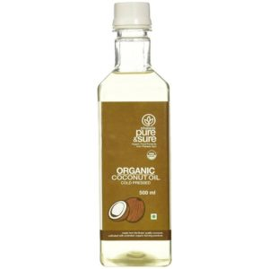 Pure and Sure Organic Coconut Oil-cold-pressed-500ml