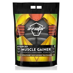 AVVATAR ADVANCED MUSCLE GAINER - RICH CHOCOLATE - 10LBS