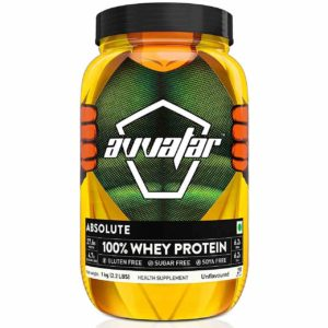 Avvatar Whey Protein Powder - Unflavoured - 100% Absolute 1 kg